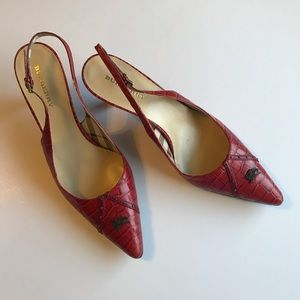NWT Burberry Crocodile Slingbacks Pumps